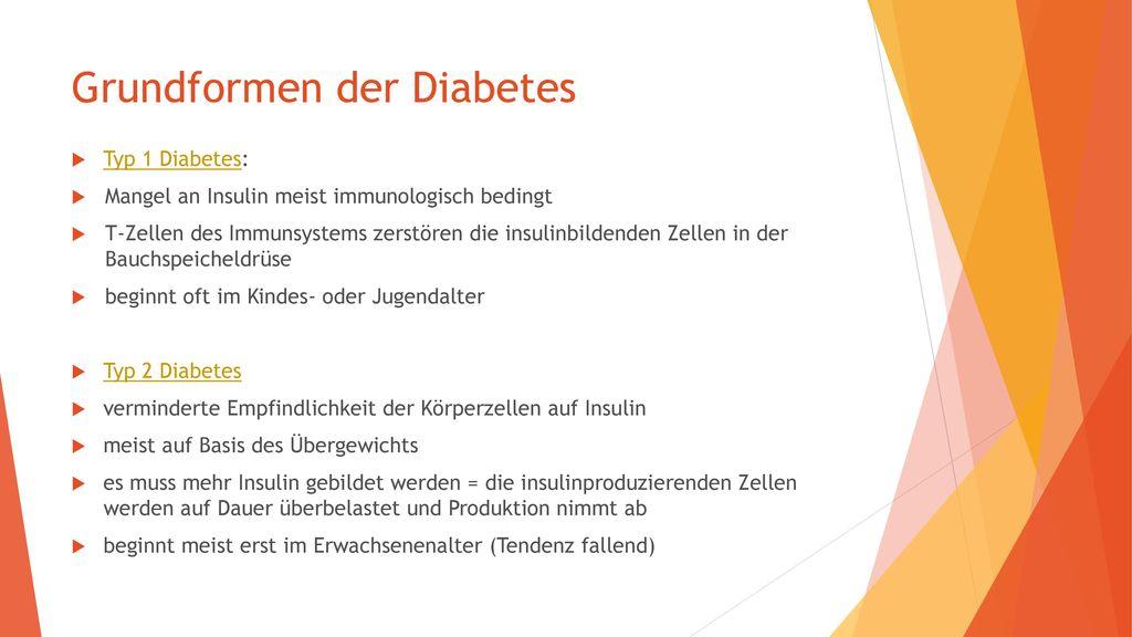 Grundformen der Diabetes