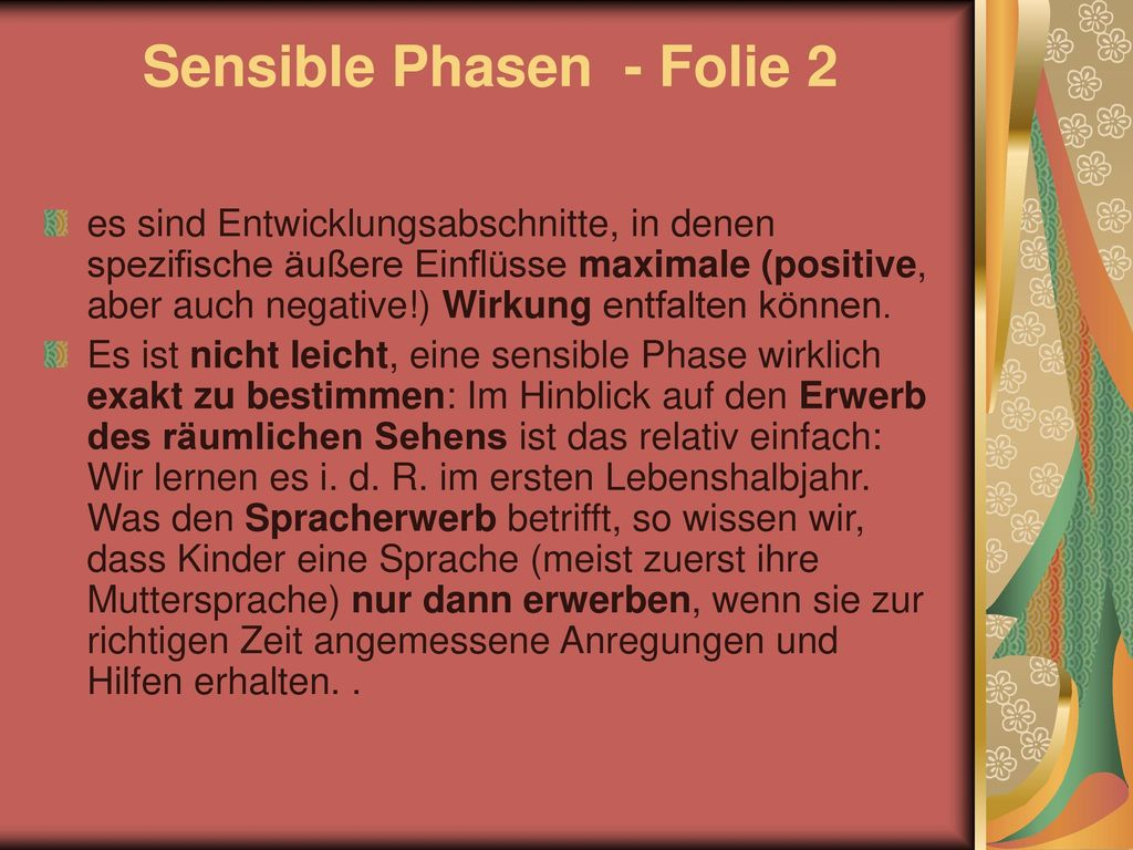 Sensible Phasen - Folie 2