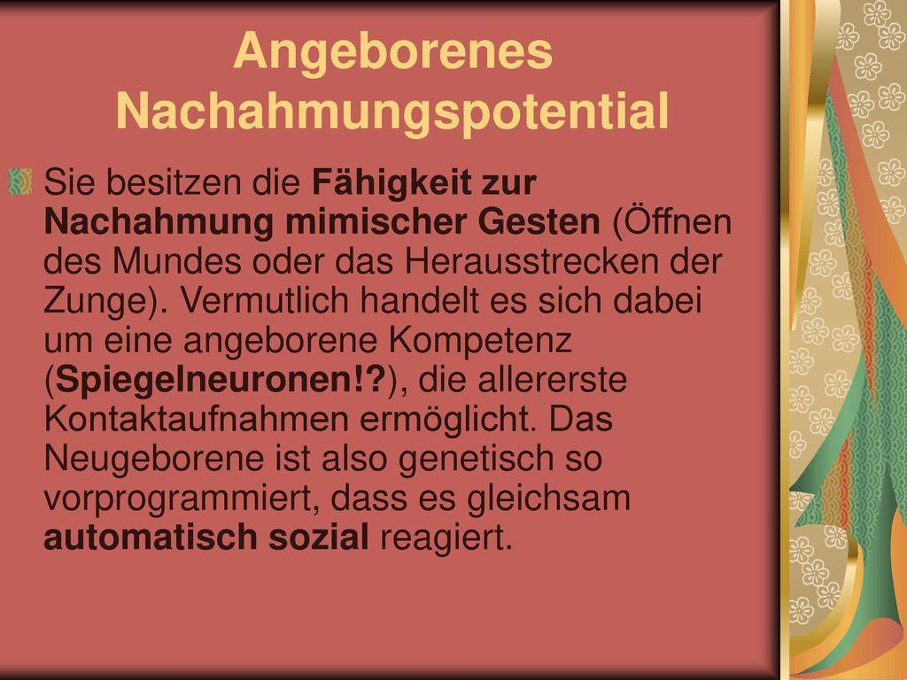 Angeborenes Nachahmungspotential