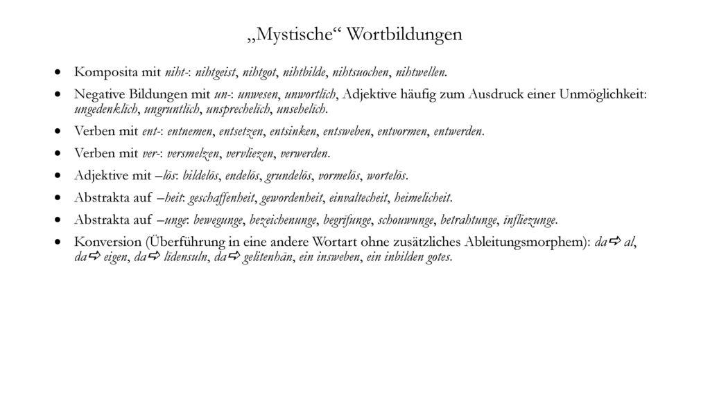 """""""Mystische Wortbildungen"""