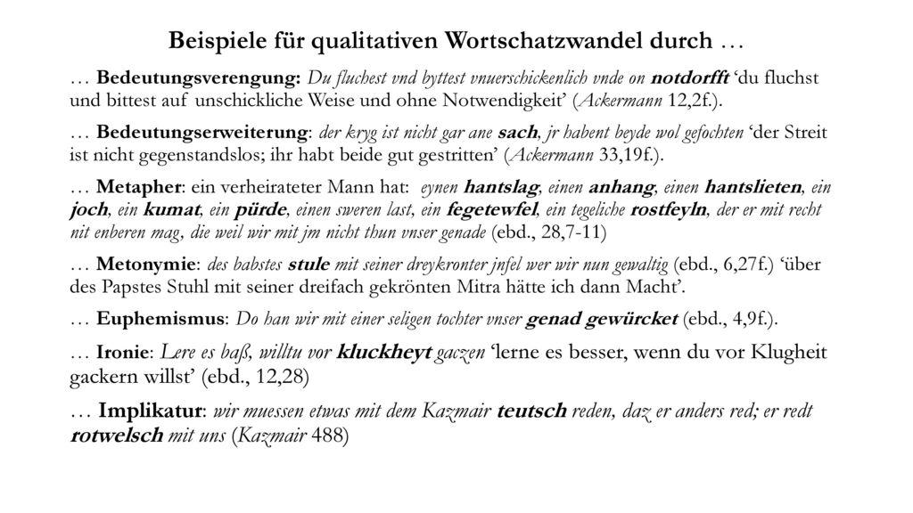 Beispiele für qualitativen Wortschatzwandel durch …