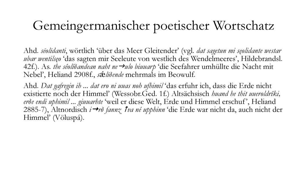 Gemeingermanischer poetischer Wortschatz