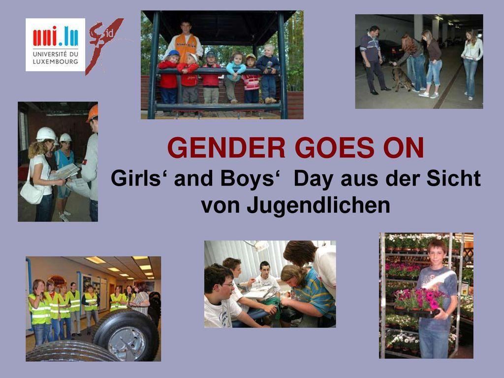 GENDER GOES ON Girls' and Boys' Day aus der Sicht von Jugendlichen