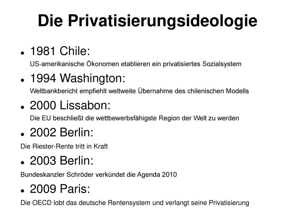 Die Privatisierungsideologie