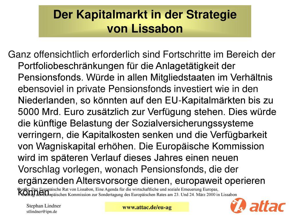 Der Kapitalmarkt in der Strategie von Lissabon