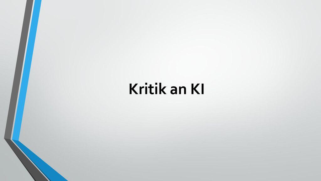 Kritik an KI