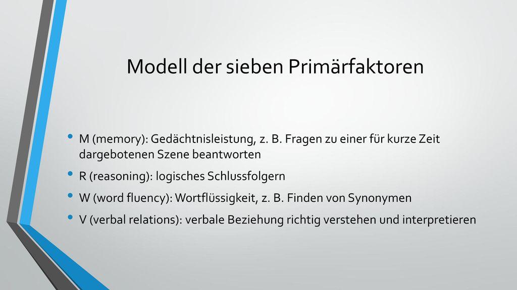 Modell der sieben Primärfaktoren
