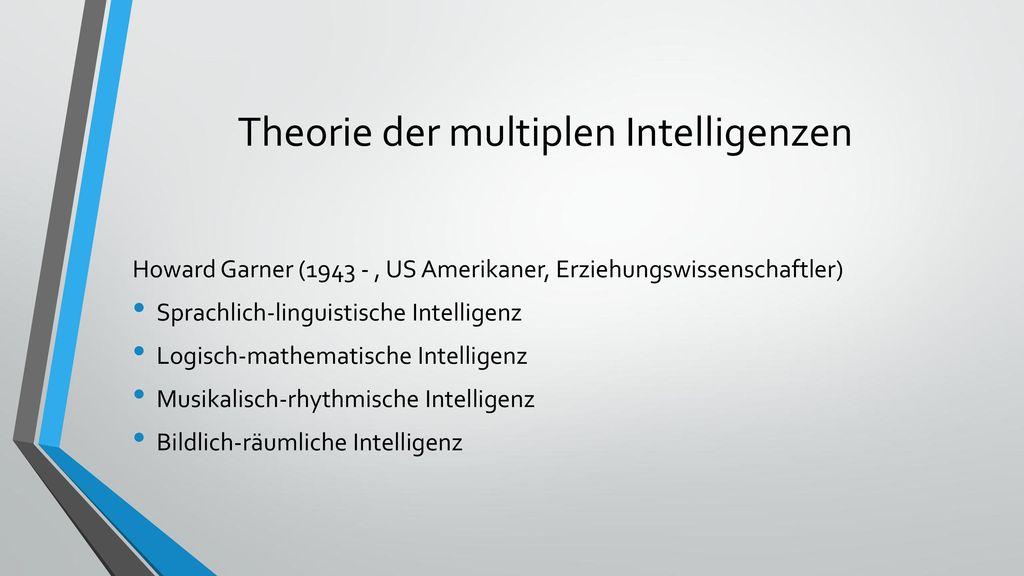 Theorie der multiplen Intelligenzen