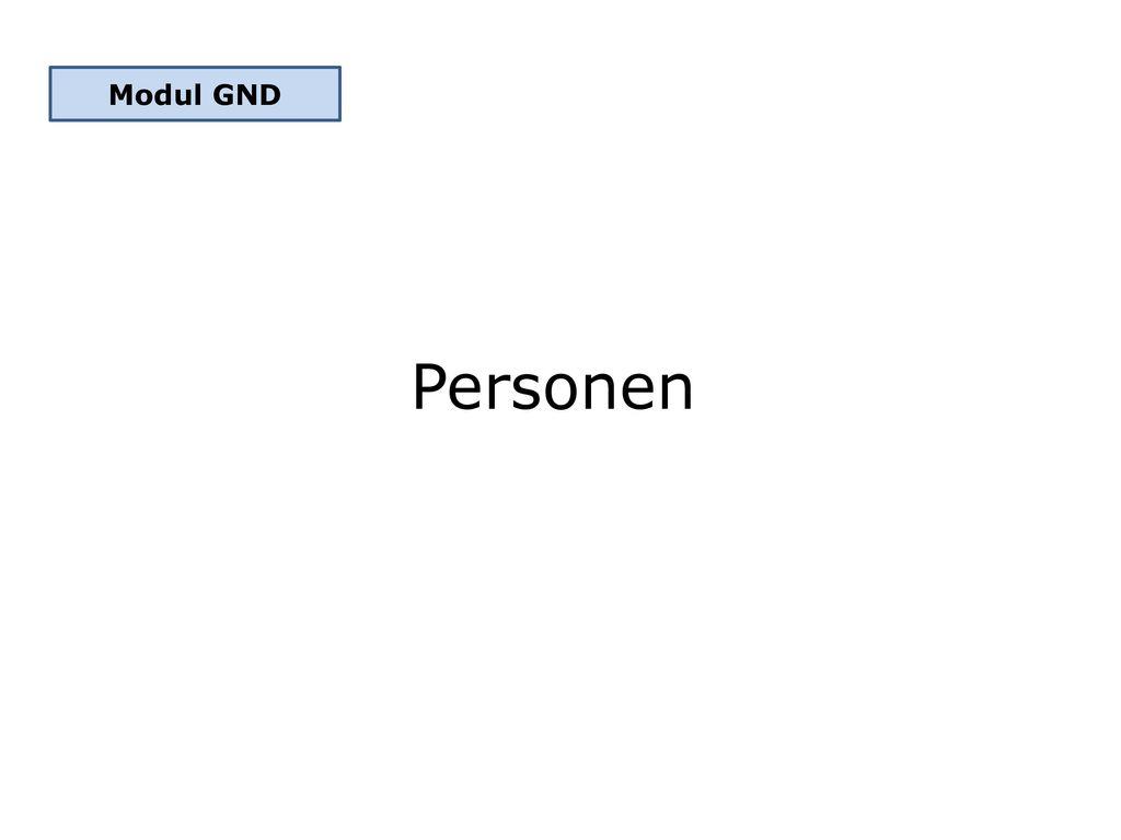 Modul GND Personen