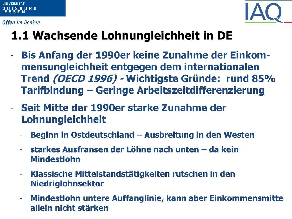 1.1 Wachsende Lohnungleichheit in DE