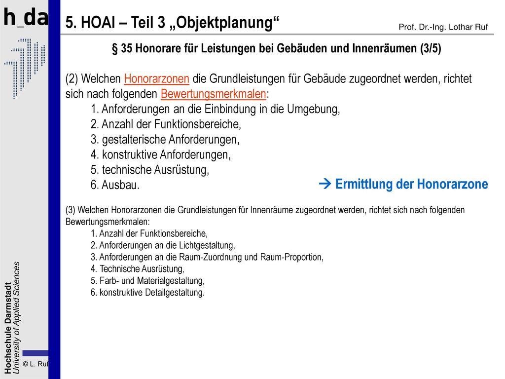 § 35 Honorare für Leistungen bei Gebäuden und Innenräumen (3/5)