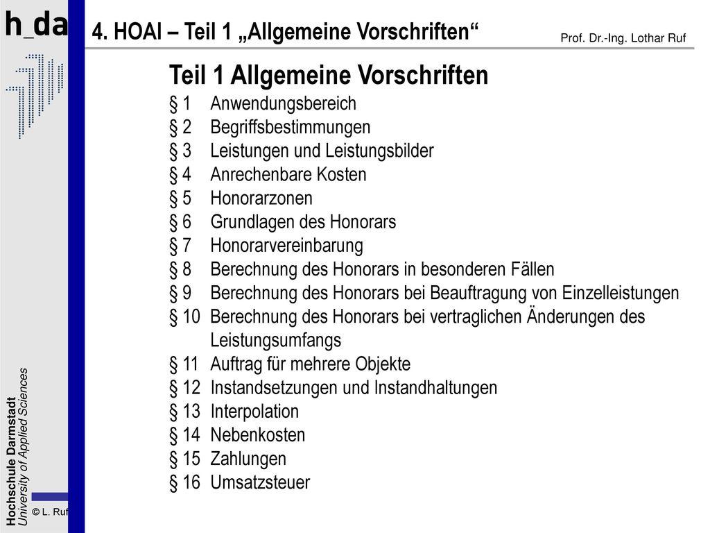 Teil 1 Allgemeine Vorschriften