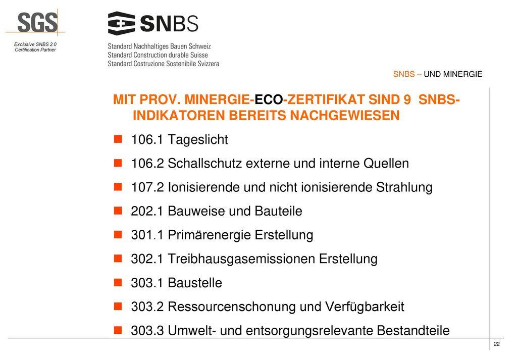 106.2 Schallschutz externe und interne Quellen