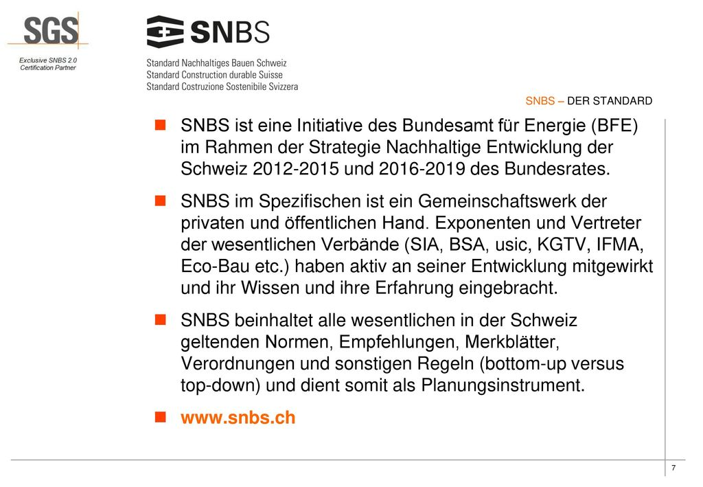 SNBS – DER STANDARD