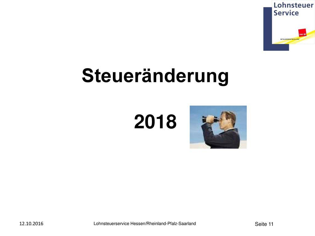 Steueränderung 2018