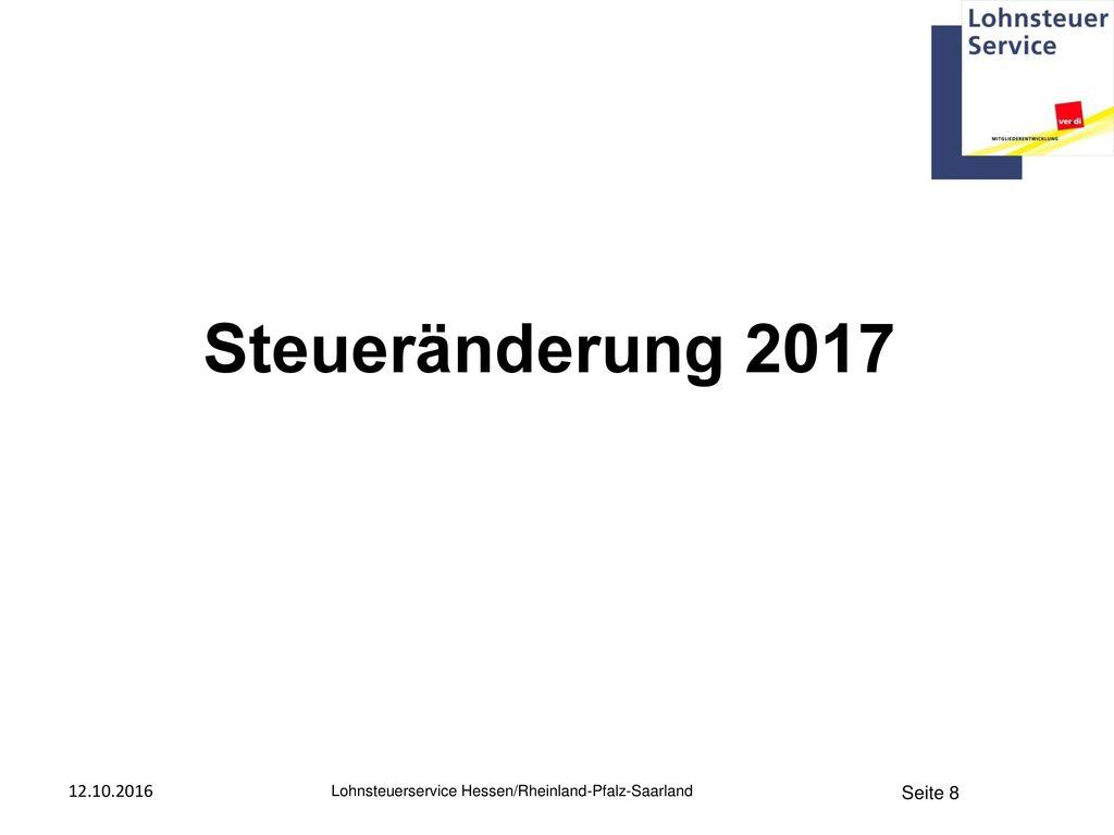 Steueränderung 2017