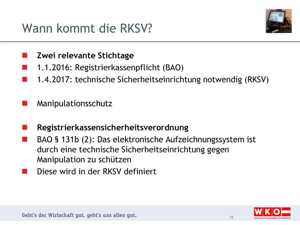 Wann kommt die RKSV Zwei relevante Stichtage