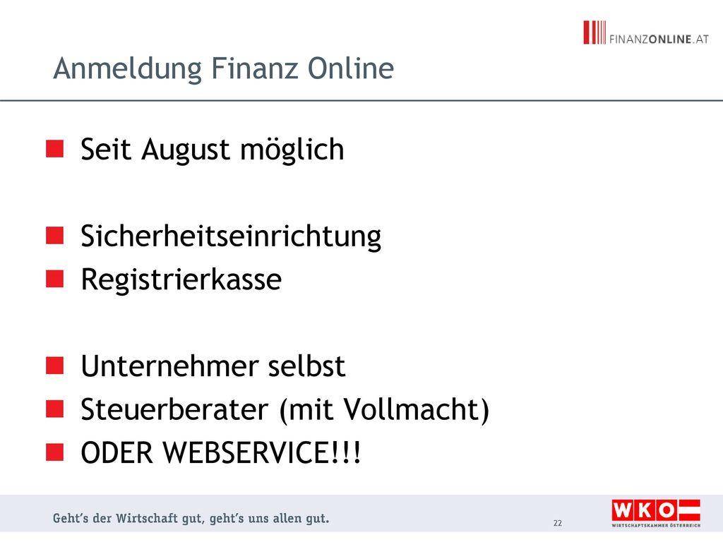 Anmeldung Finanz Online