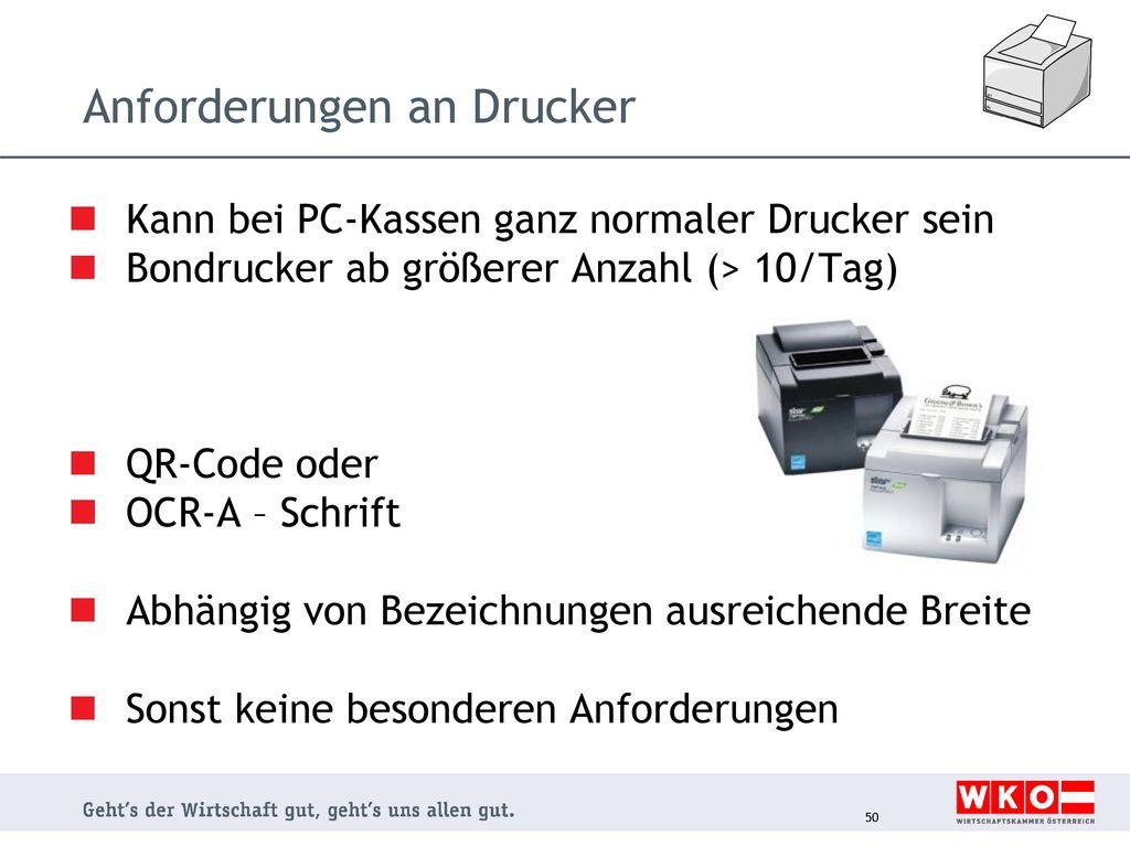 Anforderungen an Drucker