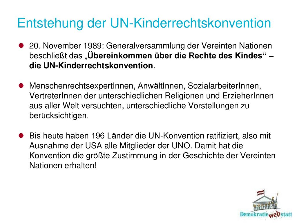 Entstehung der UN-Kinderrechtskonvention