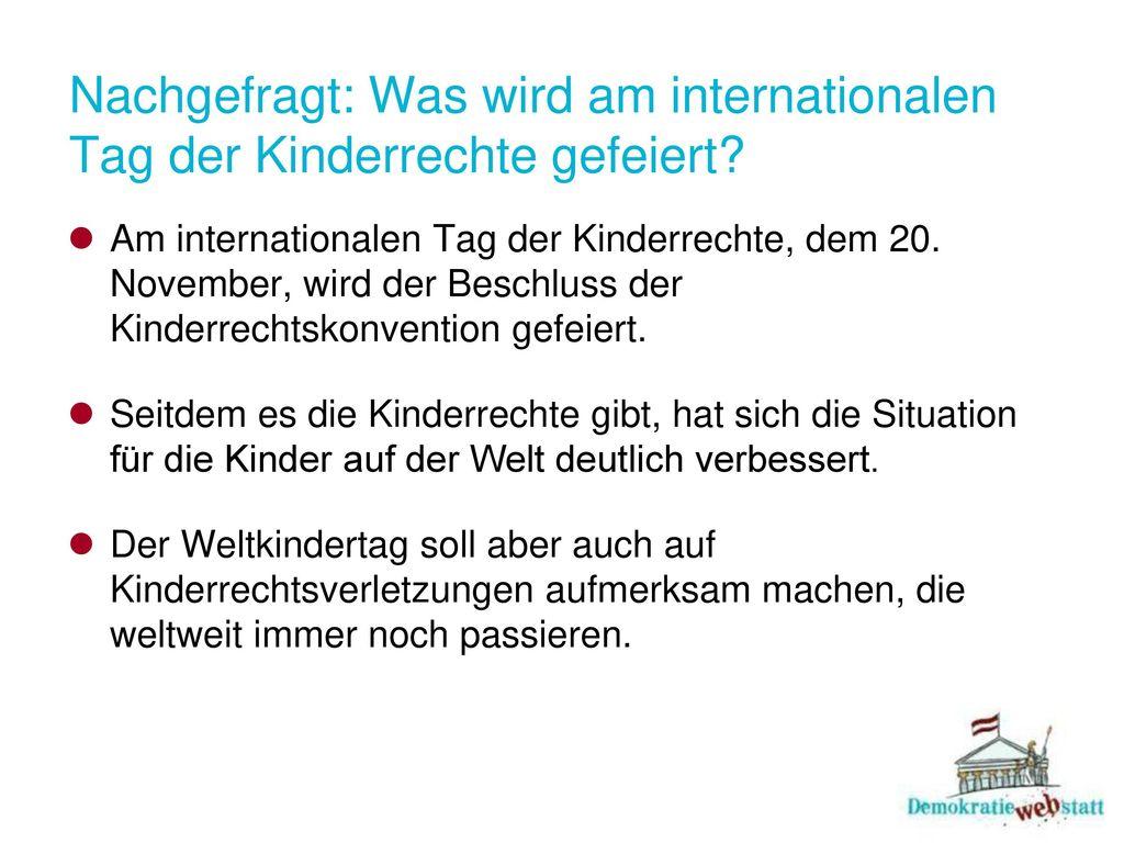 Nachgefragt: Was wird am internationalen Tag der Kinderrechte gefeiert