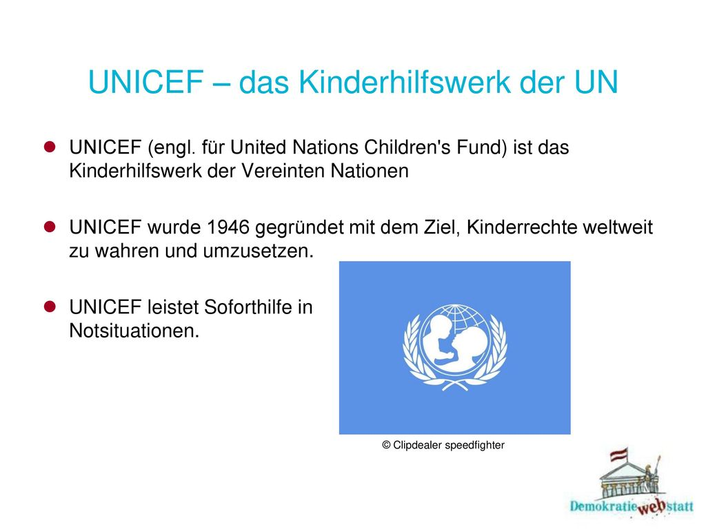 UNICEF – das Kinderhilfswerk der UN