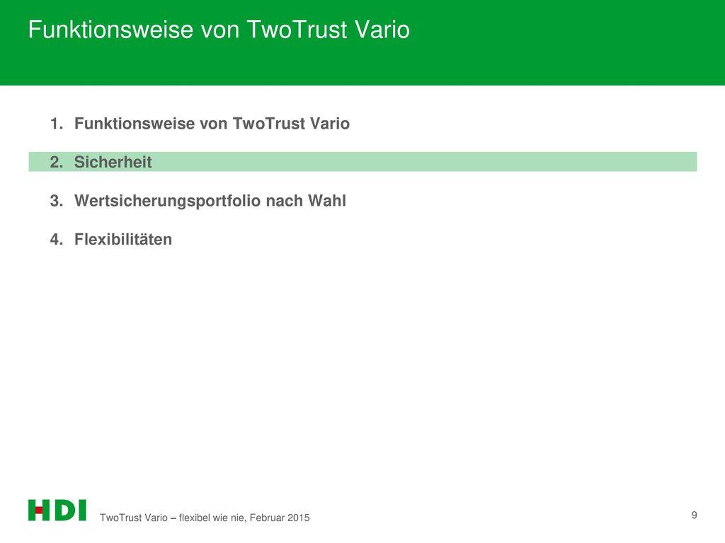 Funktionsweise von TwoTrust Vario