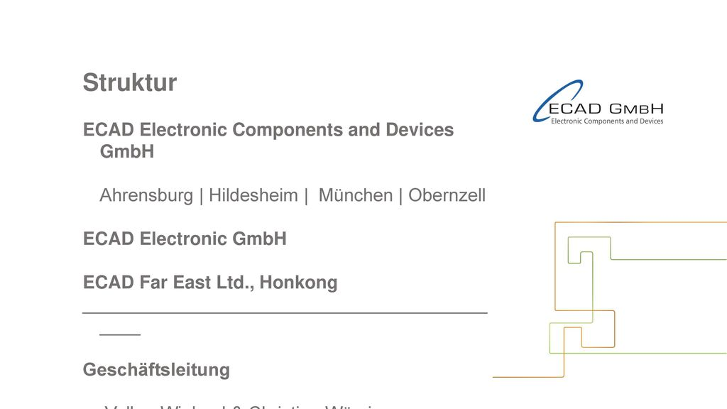 Struktur ECAD Electronic Components and Devices GmbH
