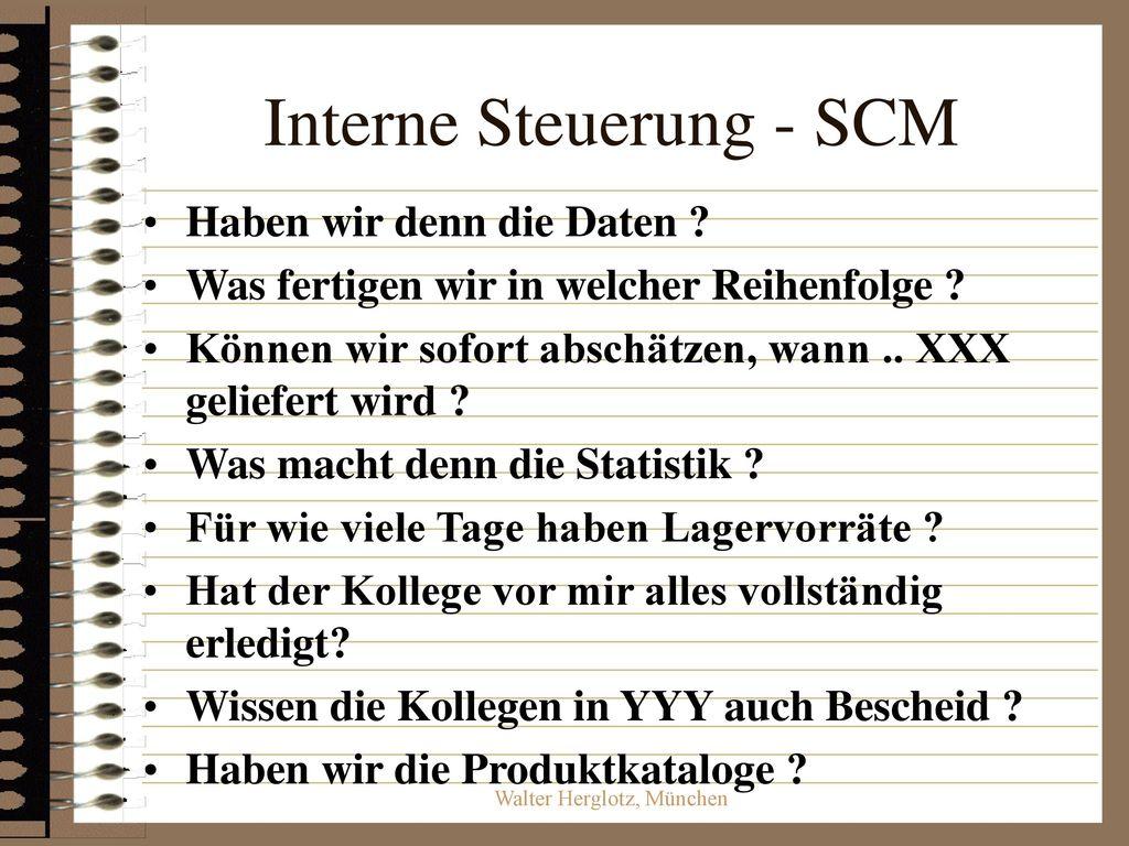 Interne Steuerung - SCM