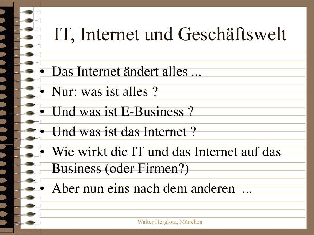 IT, Internet und Geschäftswelt