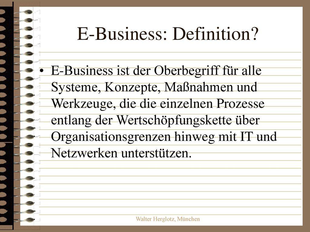 E-Business: Definition