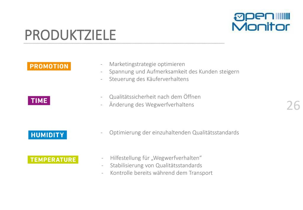 PRODUKTZIELE Marketingstrategie optimieren