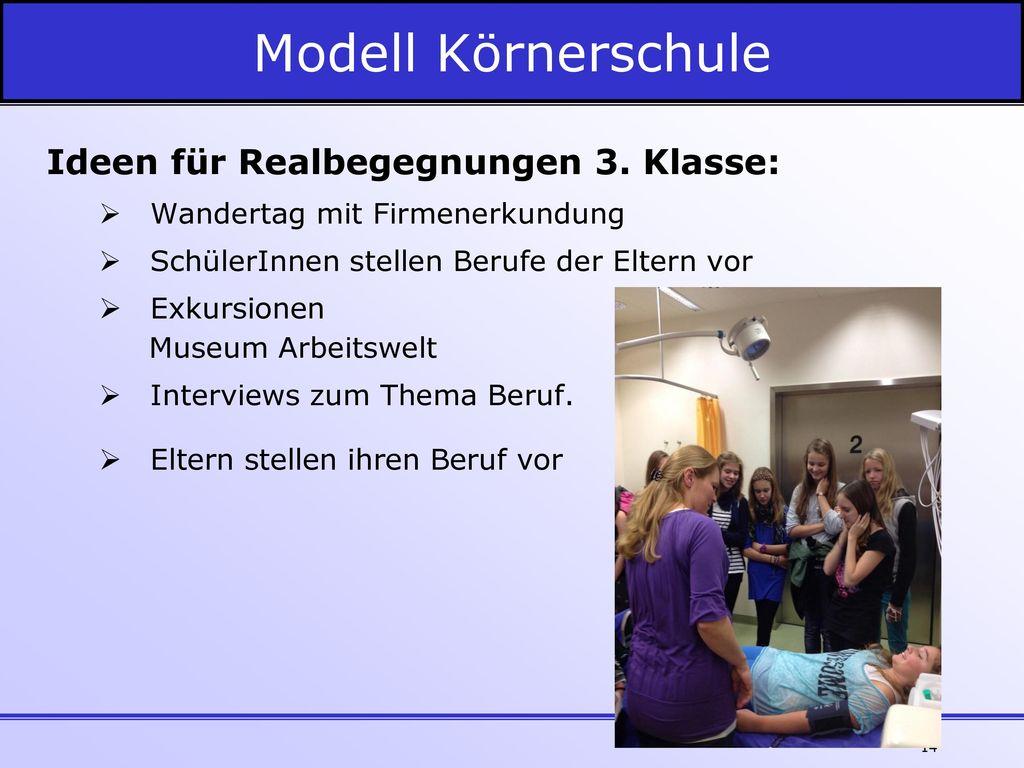 Modell Körnerschule Ideen für Realbegegnungen 3. Klasse: