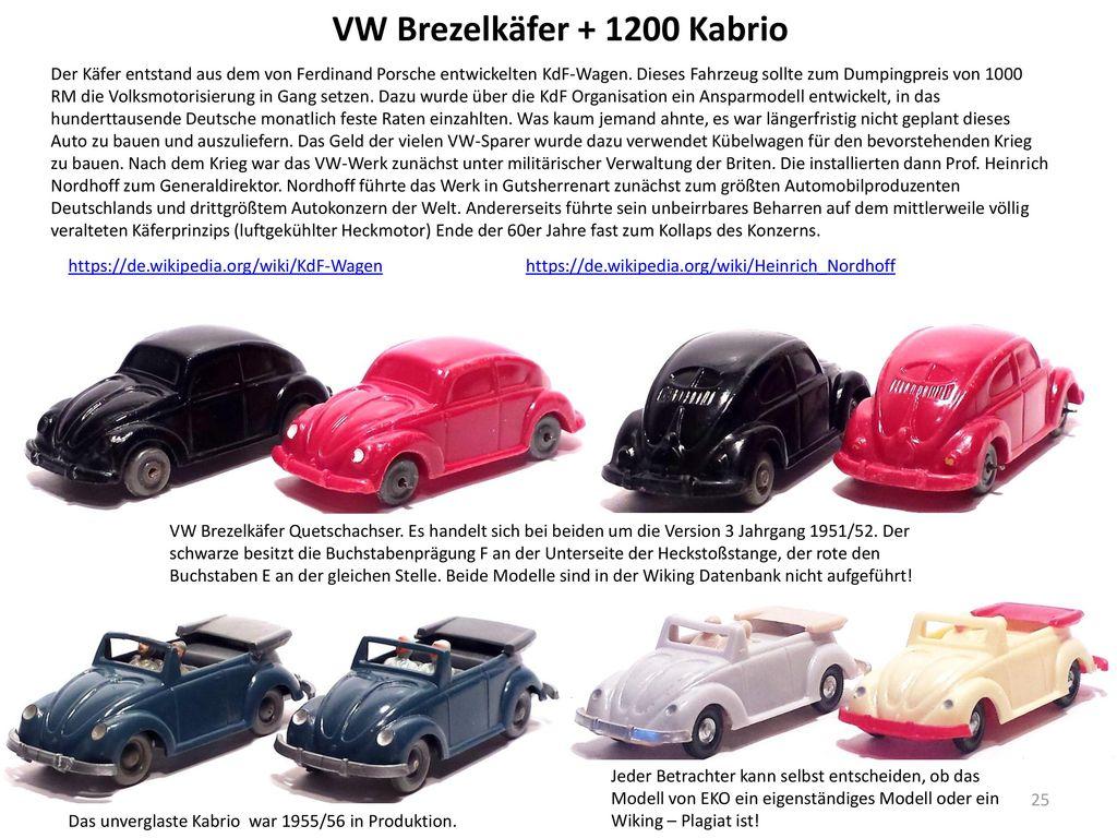 VW Brezelkäfer + 1200 Kabrio