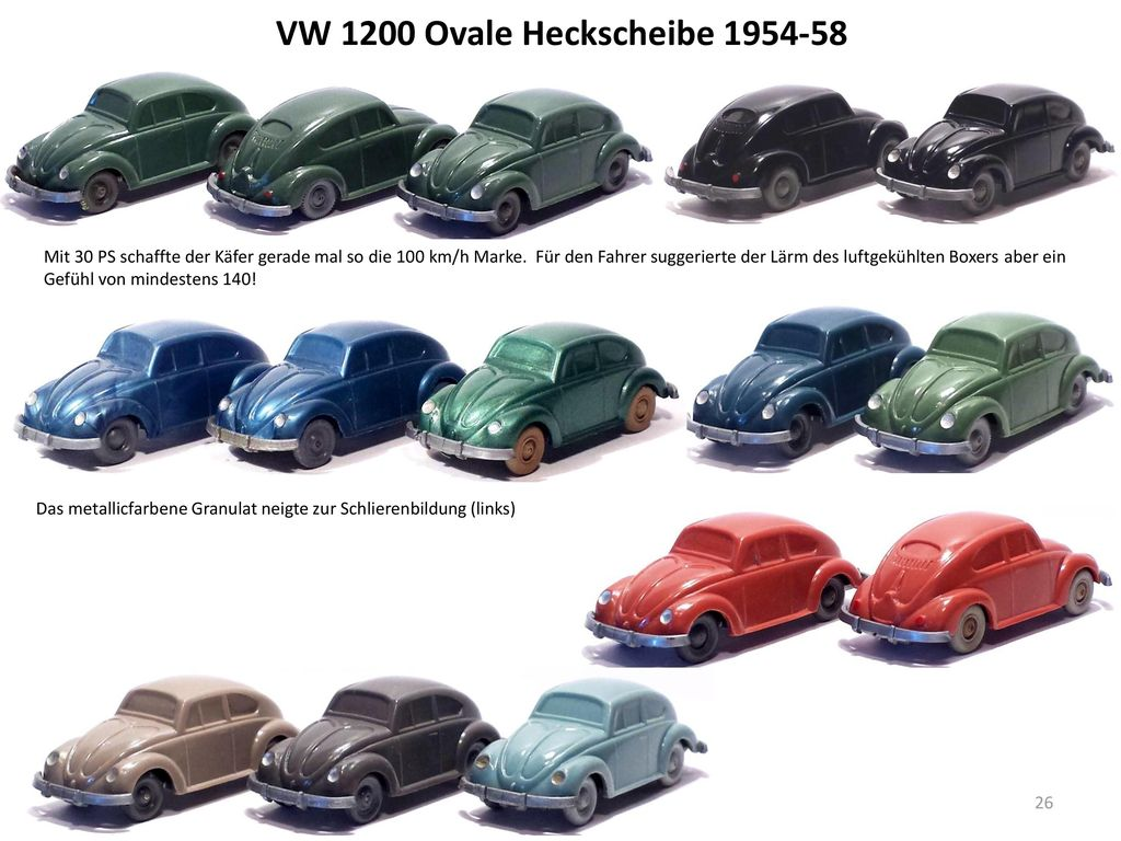 VW 1200 Ovale Heckscheibe 1954-58