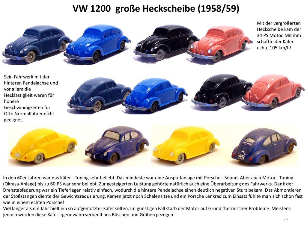 VW 1200 große Heckscheibe (1958/59)