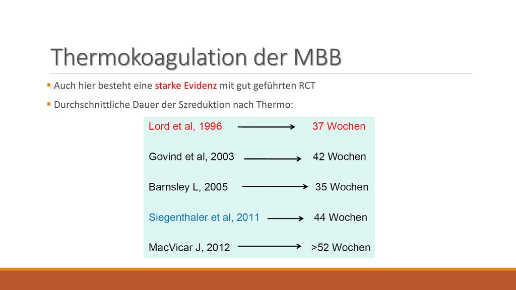 Thermokoagulation der MBB