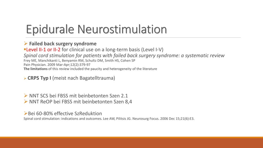Epidurale Neurostimulation