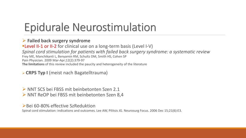 Epidurale Neurostimulation