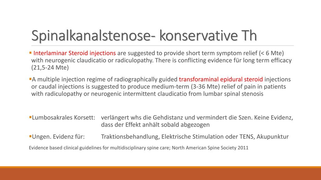 Spinalkanalstenose- konservative Th