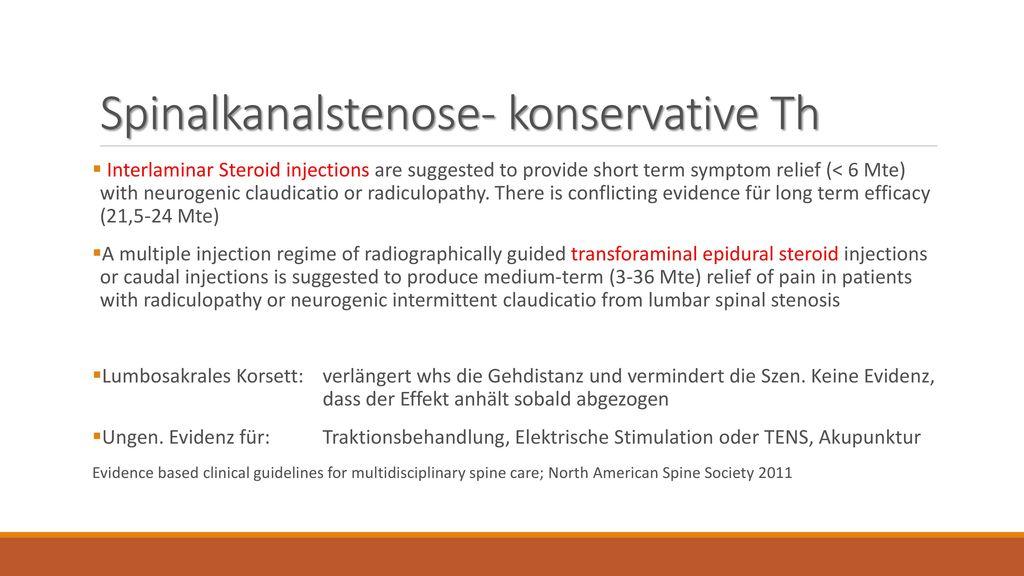 Spinalkanalstenose- konservative Th