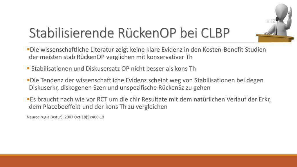 Stabilisierende RückenOP bei CLBP