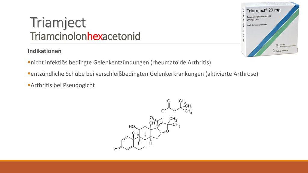Triamject Triamcinolonhexacetonid