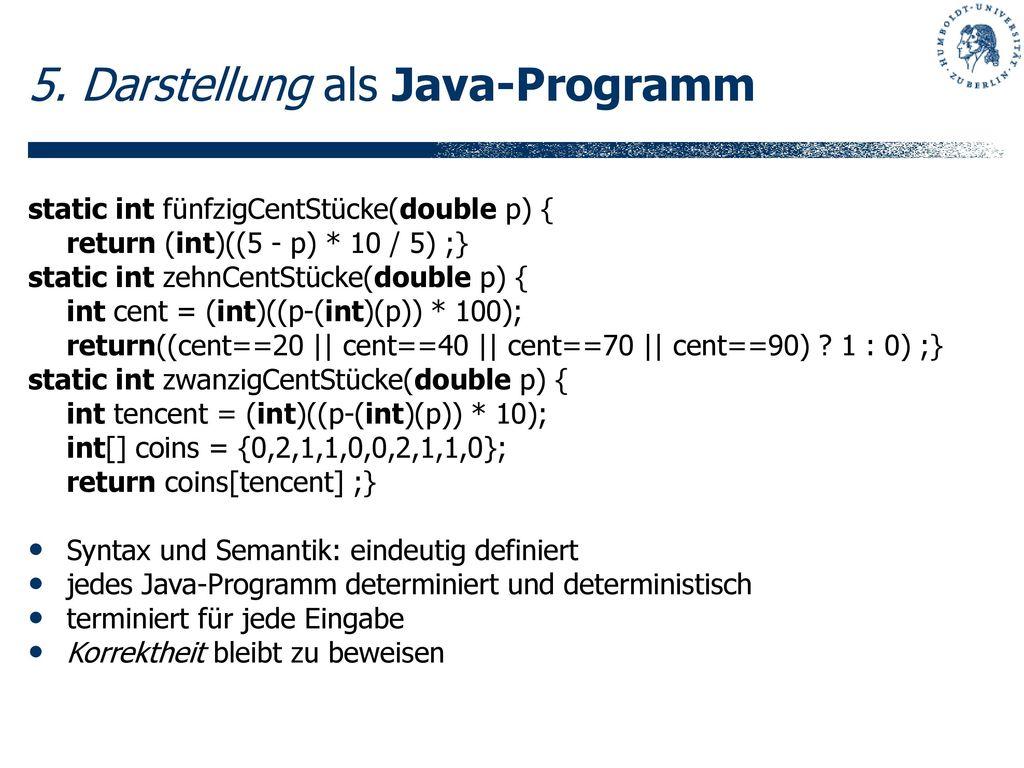 5. Darstellung als Java-Programm