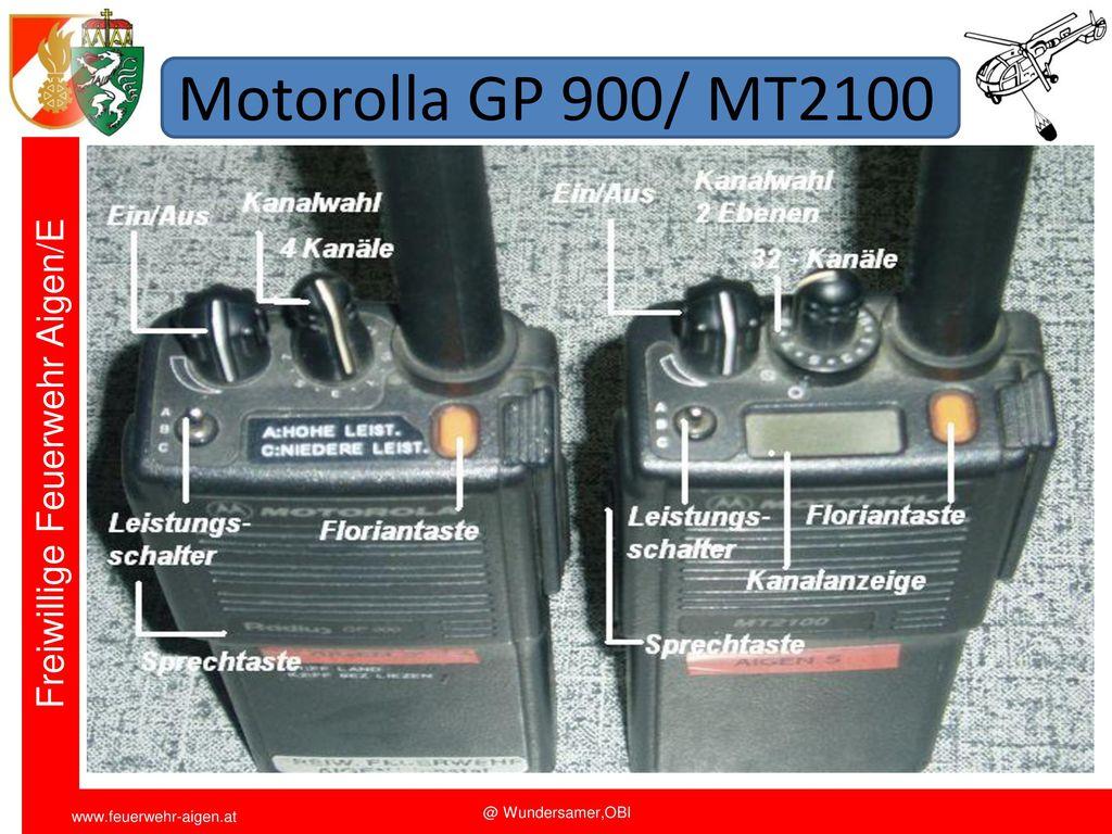 Motorolla GP 900/ MT2100 Funkschulung 2011 FF Aigen/E. OBI Wundersamer