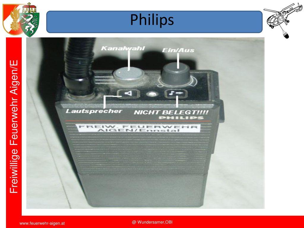Philips Funkschulung 2011 FF Aigen/E. OBI Wundersamer