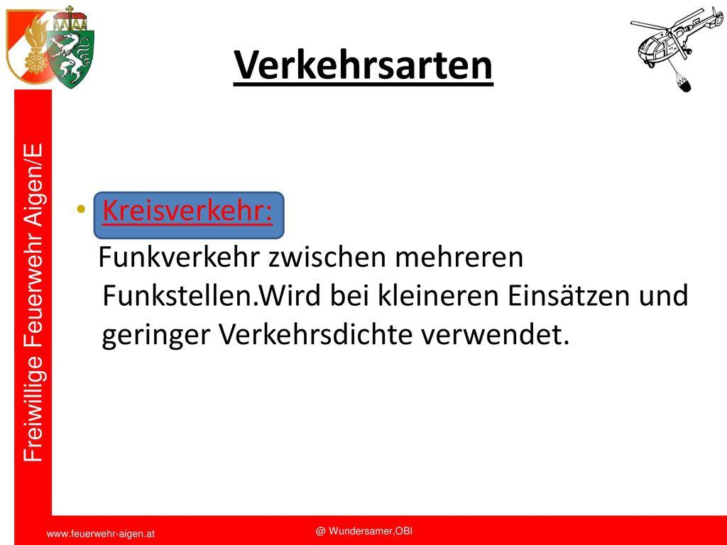 Verkehrsarten Kreisverkehr: