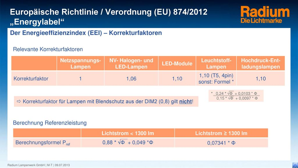 Der Energieeffizienzindex (EEI) – Korrekturfaktoren
