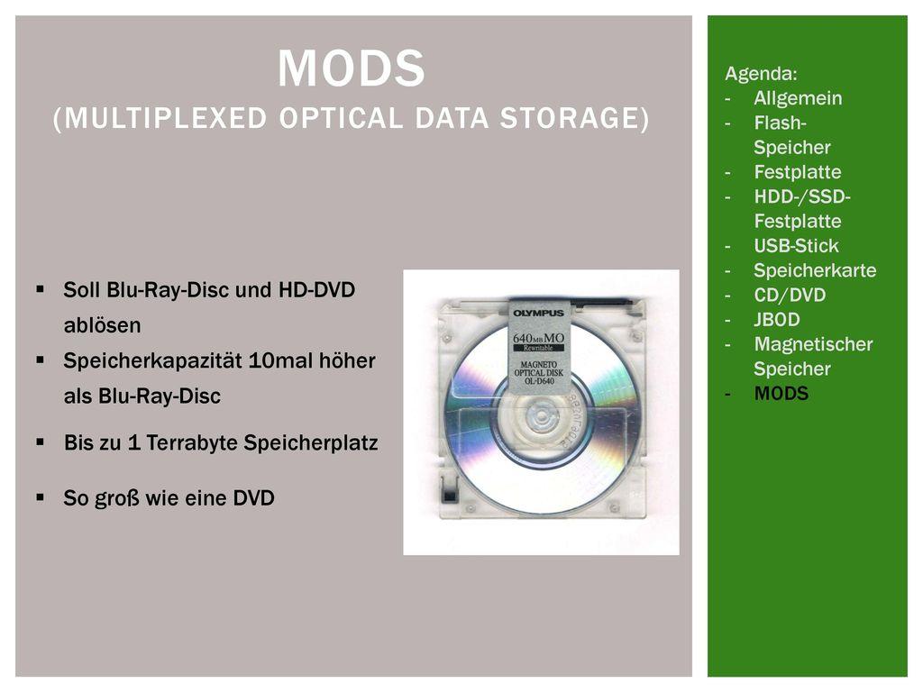 MODS (multiplexed optical data storage)
