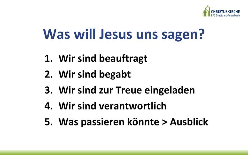 Was will Jesus uns sagen
